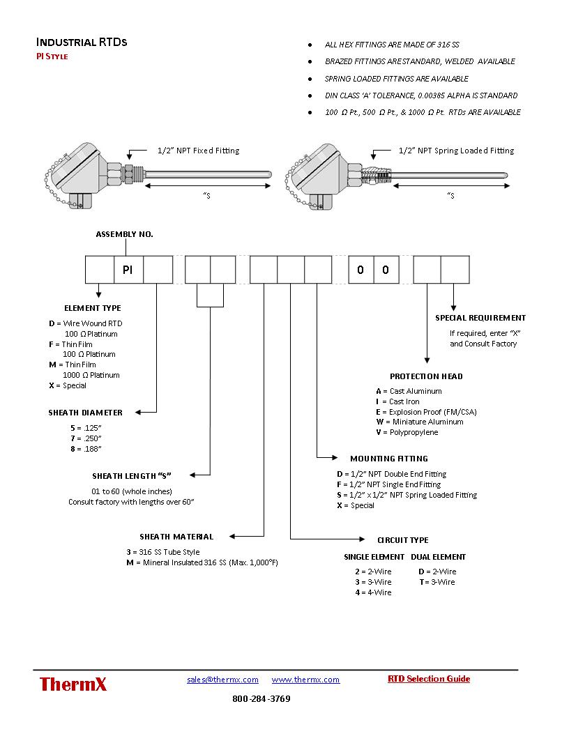 Custom Industrial RTDs